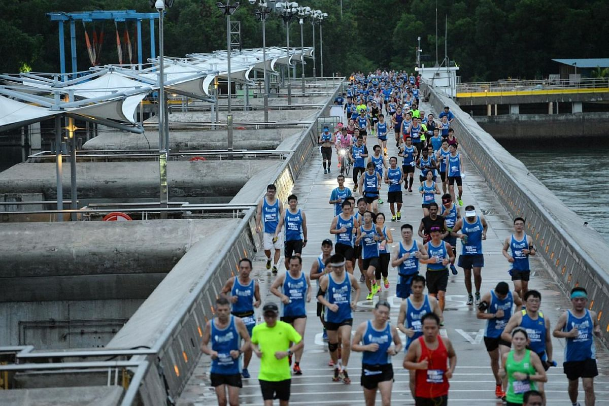 Participants taking part in this year's The Straits Times Run.