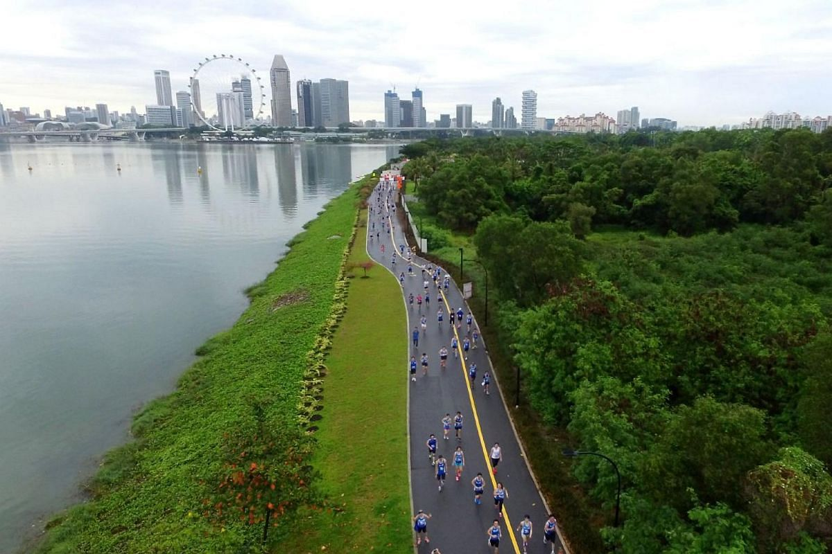 An aerial view of The Straits Times Run.