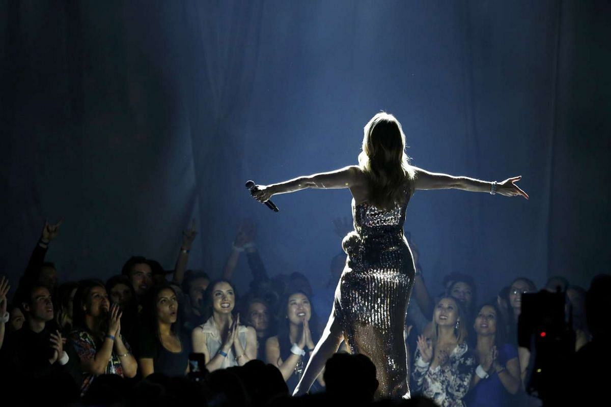 Billboard Icon Award recipient Celine Dion performs The Show Must Go On at the 2016 Billboard Awards in Las Vegas.