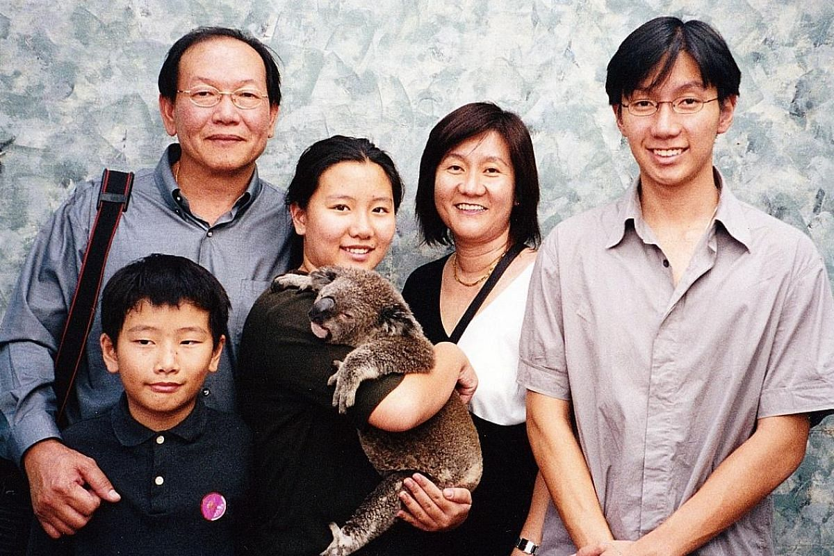 My life so far: Mr Chia visiting Perth when he was in junior college, with his father Chia Song Soon, mother Alison, sister Clarinda and brother Edric.