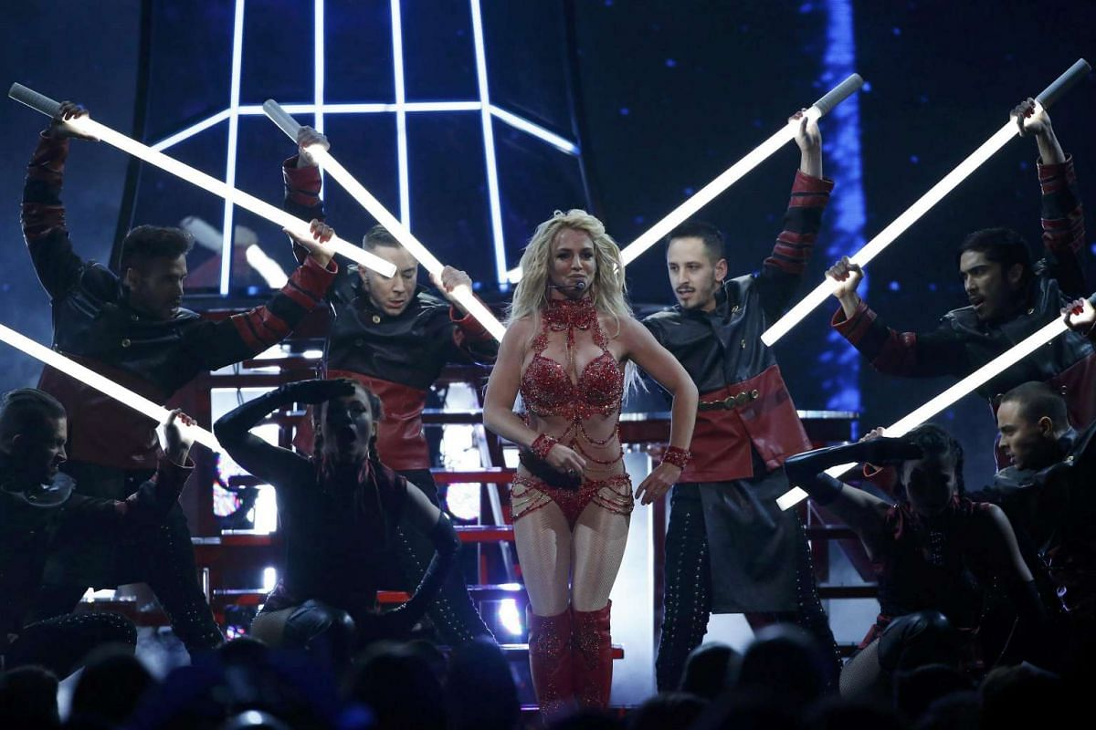 Millennium Award recipient Britney Spears performs a medley of songs at the 2016 Billboard Awards.