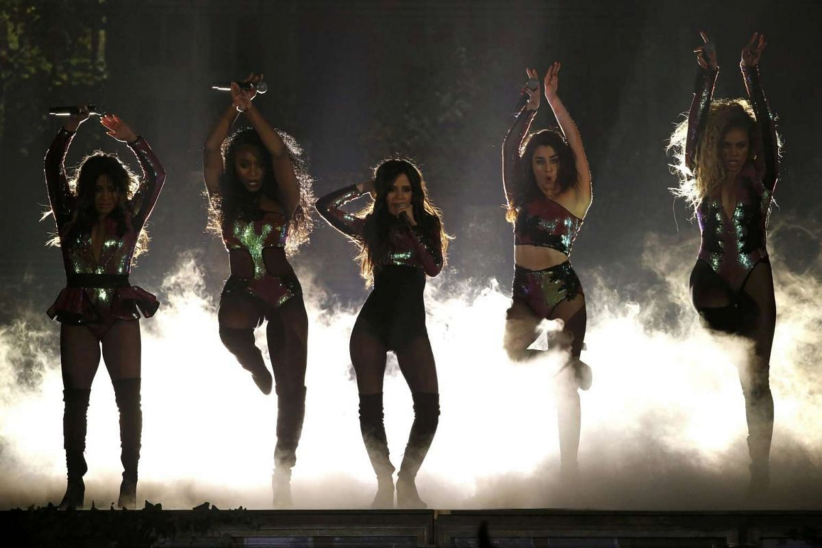 Fifth Harmony perform Work From Home at the 2016 Billboard Awards in Las Vegas.
