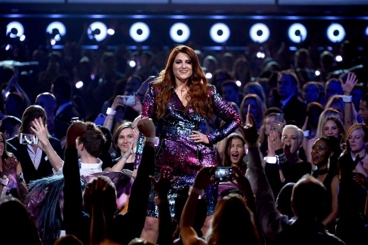 Meghan Trainor performs onstage during the 2016 Billboard Music Awards.