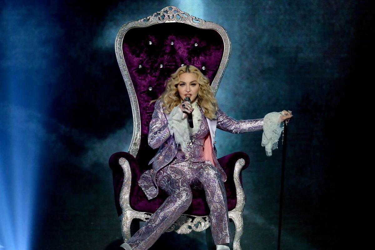 Madonna performs a tribute to Prince onstage during the 2016 Billboard Music Awards.