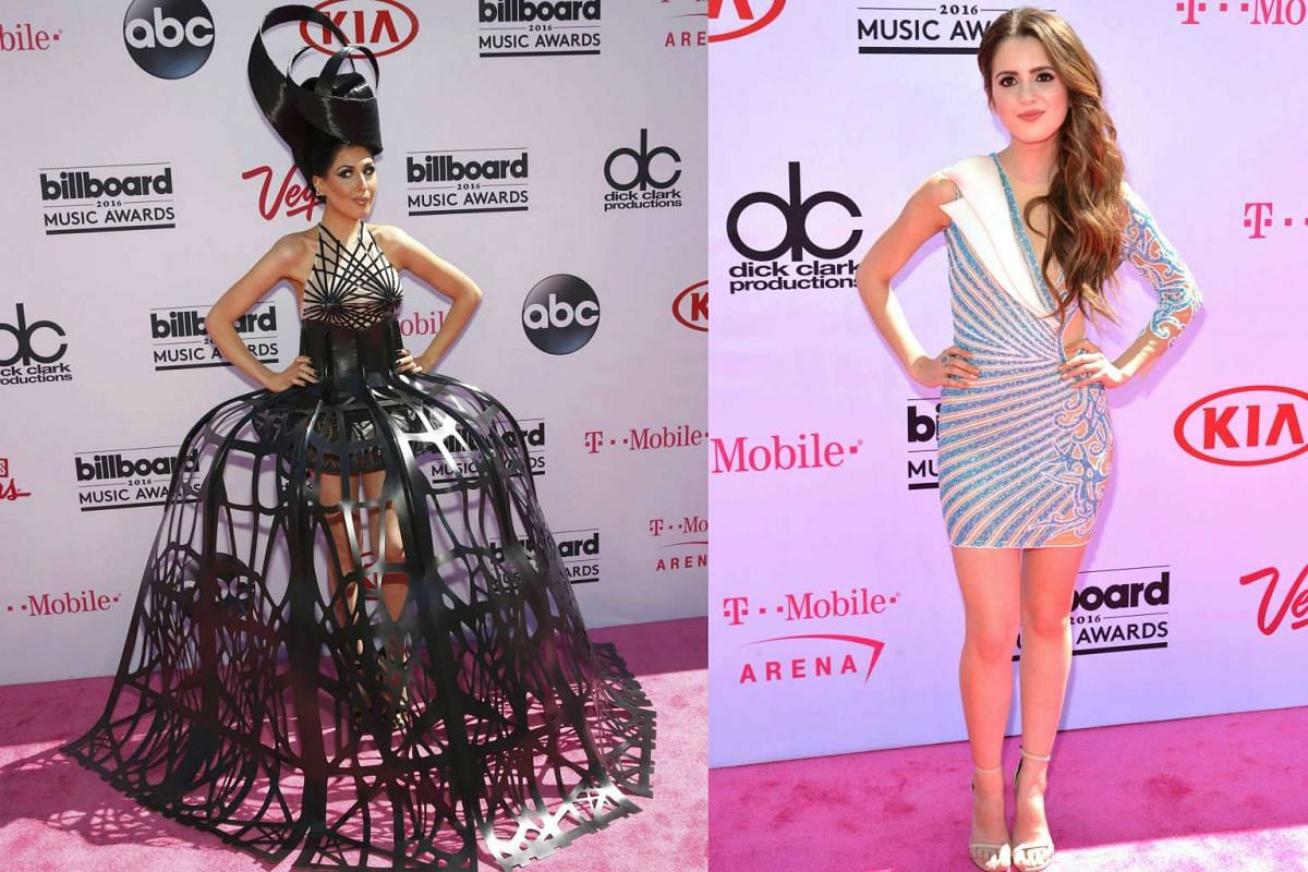 Singer Z LaLa (left) and pre-show co-host Laura Marano arrive at the 2016 Billboard Awards in Las Vegas.
