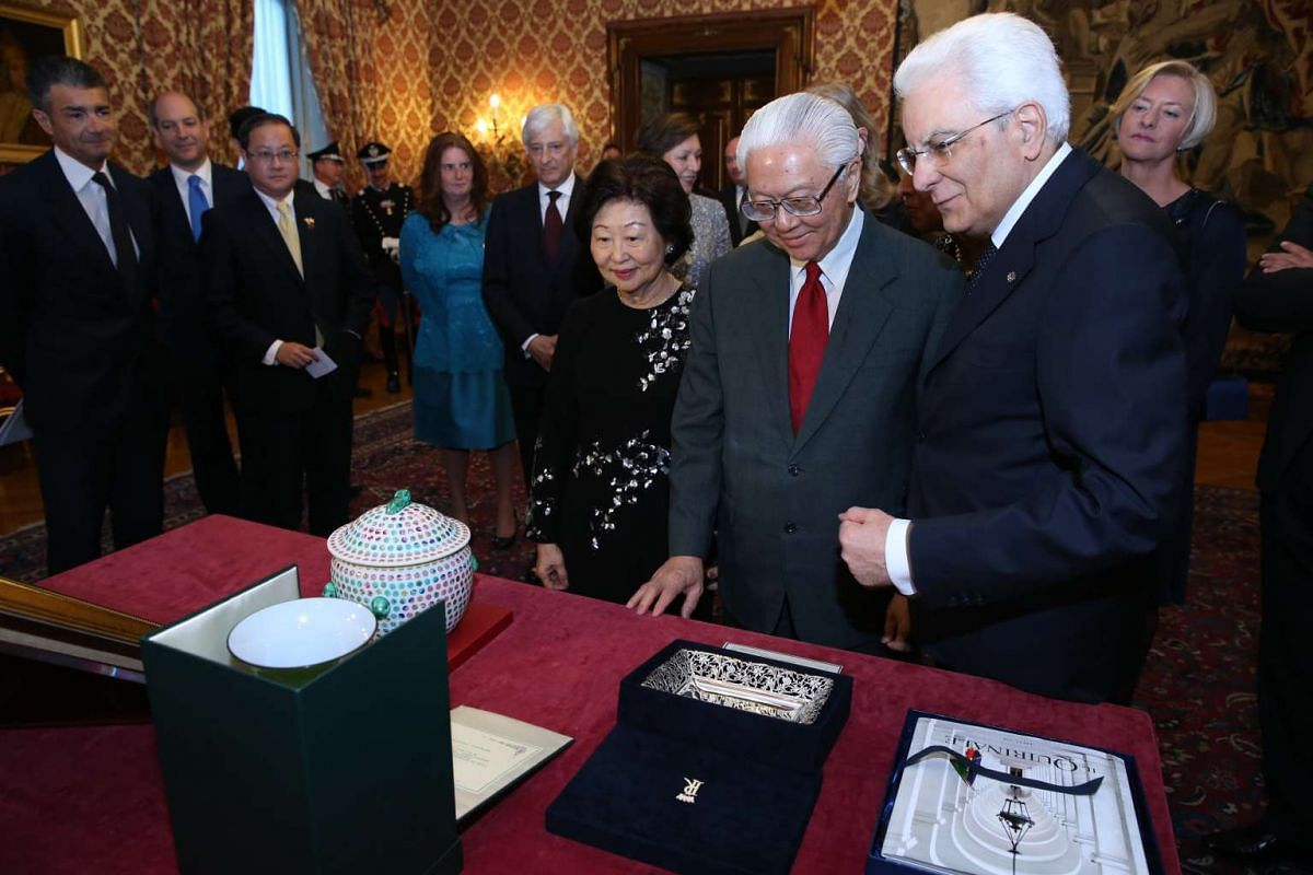 Day 2: President Tony Tan Keng Yam was hosted to a state banquet by his Italian counterpart President Sergio Mattarella at the Palazzo del Quirinale, one of Mr Mattarella's official residences.