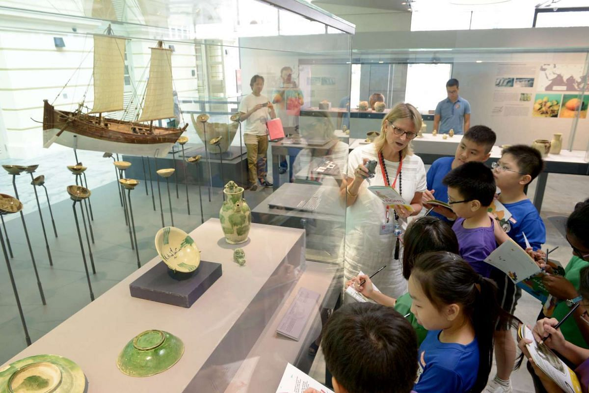 Children at Asian Civilisations Museum's programme Once Upon A Time In Asia: The Missing Mouse.