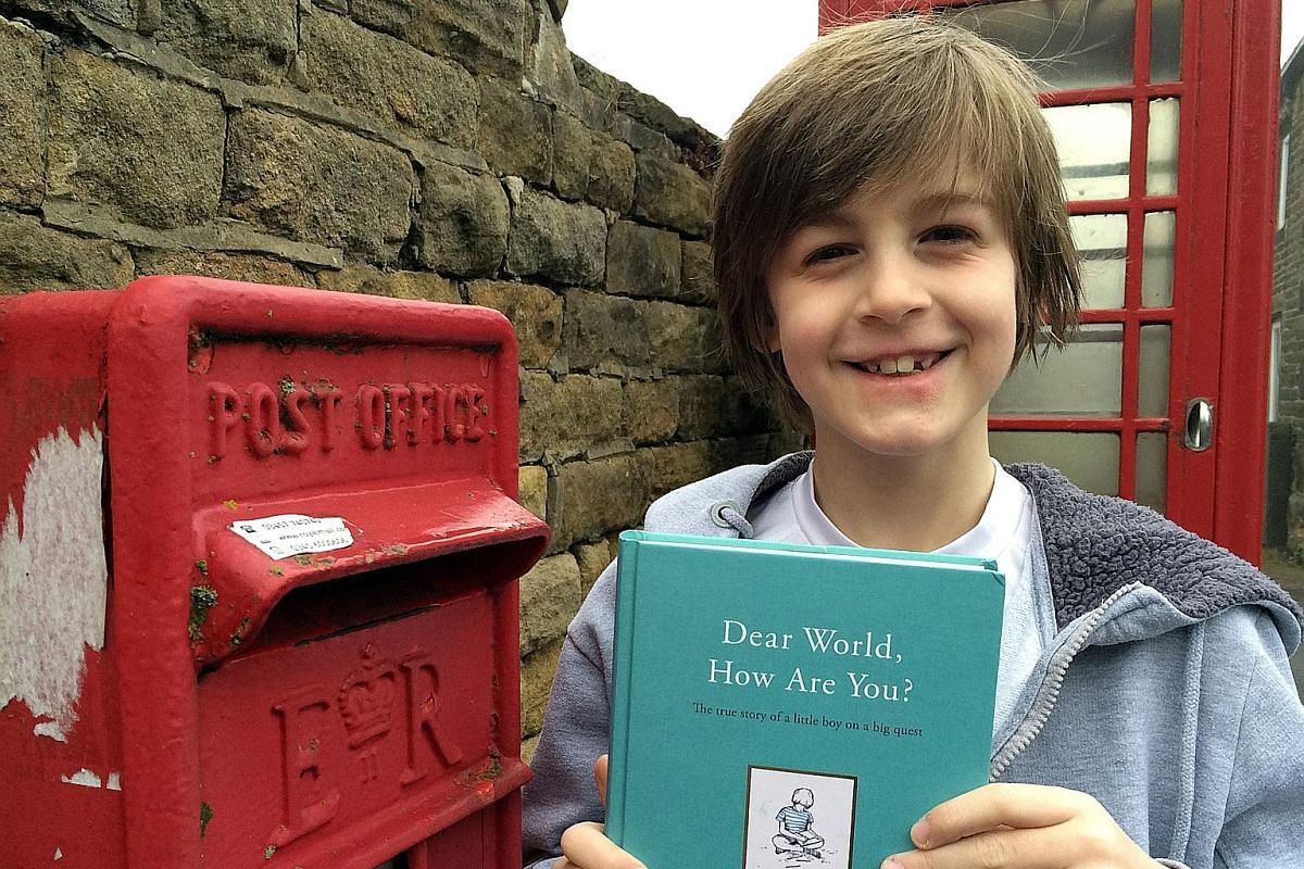 Now eight years old, Toby Little (above) is a best-selling author of a compilation of his best correspondence with the world.