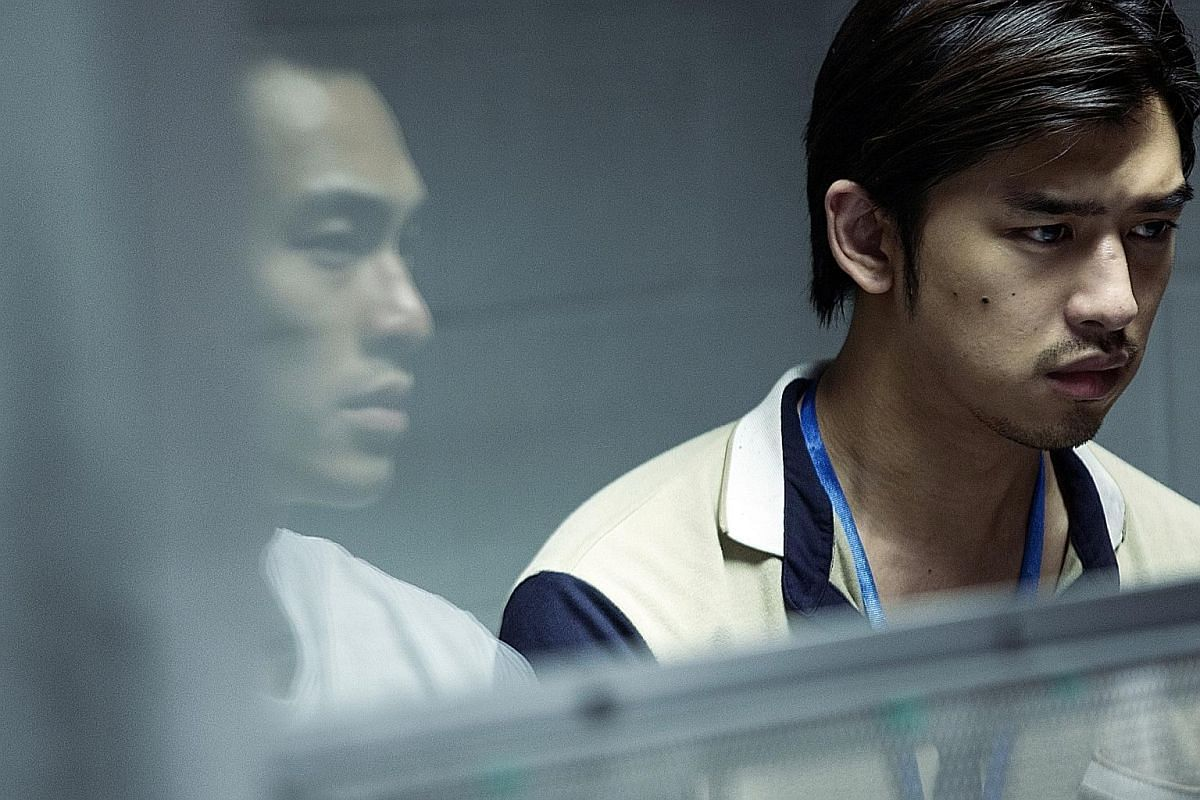 The Lake, directed by Singapore's Tan Shijie, features Yo Yang (reflection) and Chen Bo-lin.