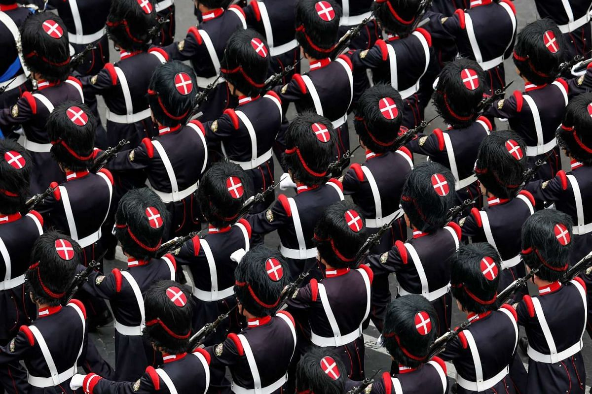 Italian military march during the Republic Day military parade in Rome on June 2, 2016. PHOTO: REUTERS
