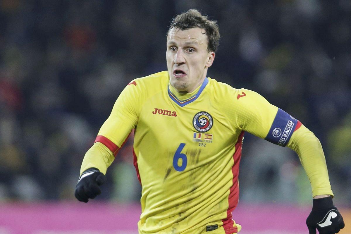 Romania's Vlad Chiriches.