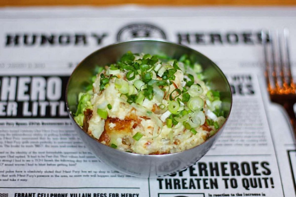 Clash Of The Potato, Mayo & Scallions by Hungry Heroes