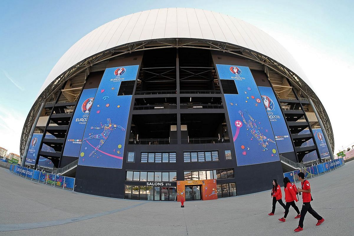 The Velodrome stadium in the southern French city of Marseille, where some Euro 2016 matches will be played.