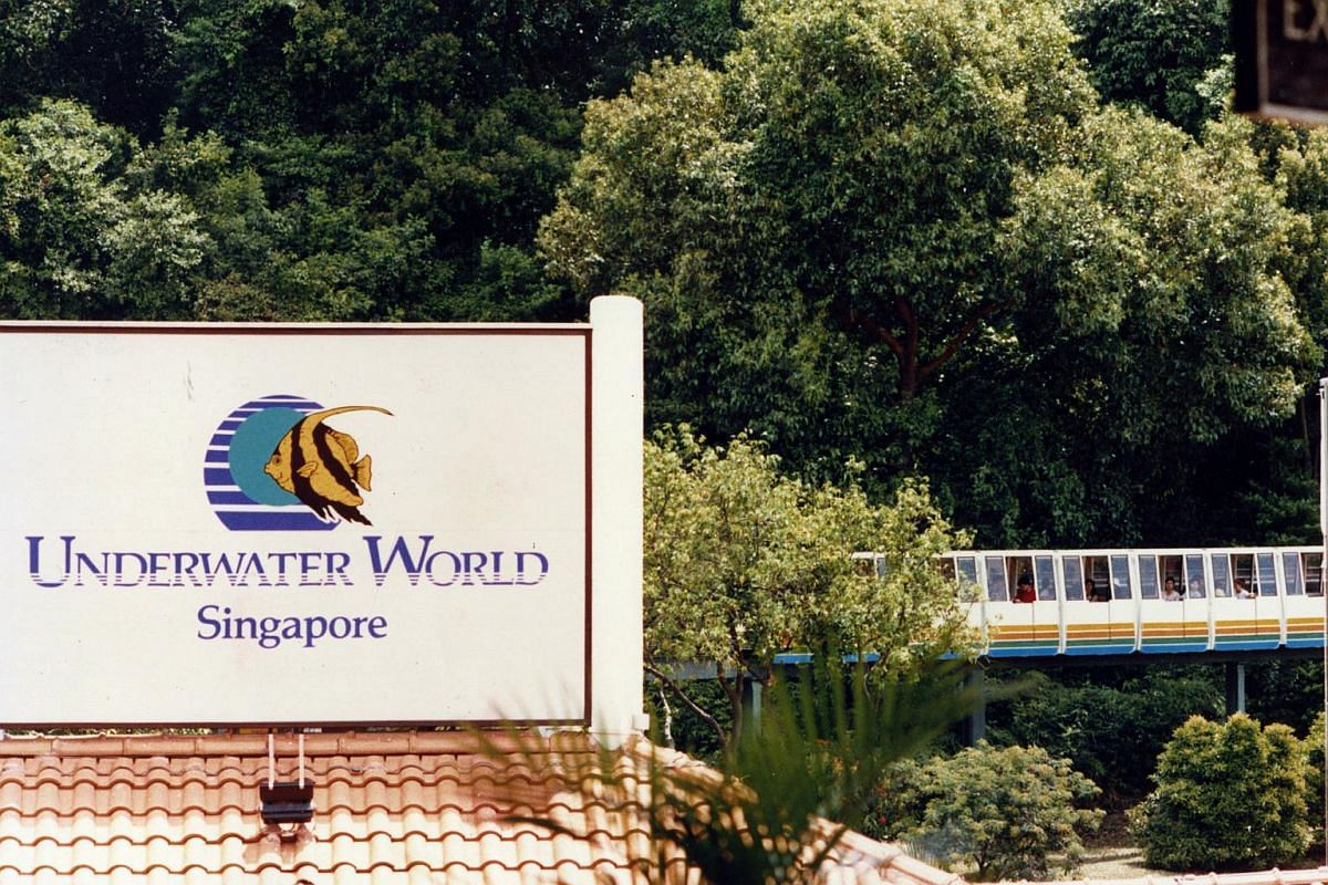 The exterior view of Underwater World Singapore.