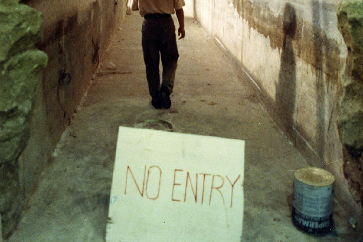 A No Entry sign seen during the construction phase of the attraction. PHOTO: ST FILE