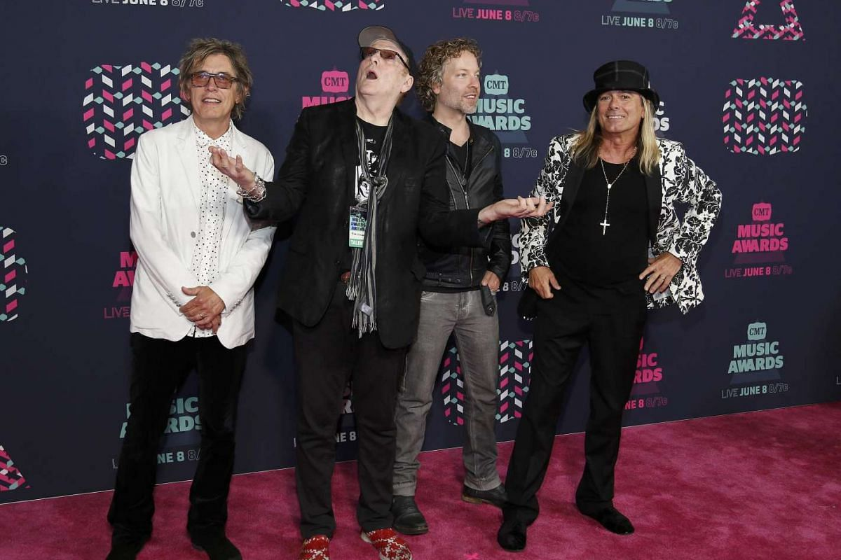 The musical group Cheap Trick arrives at the 2016 CMT Music Awards in Nashville, Tennessee US on June 8.