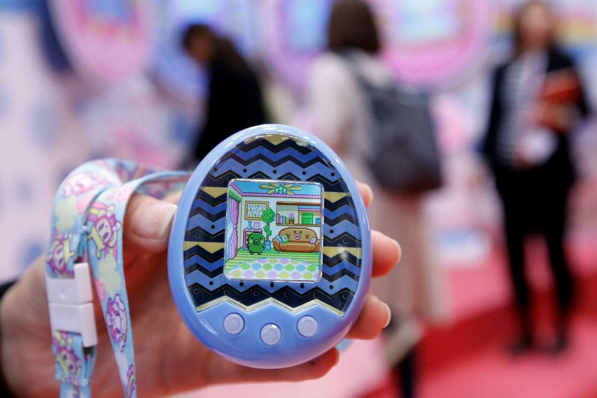 Bandai's virtual pet toy Tamagotchi x mix is seen at the International Tokyo Toy Show in Tokyo, Japan on June 9, 2016.