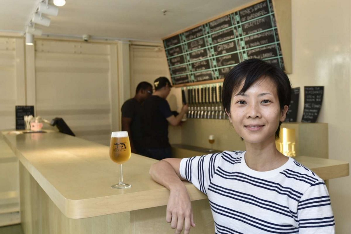 Ms Corrine Chia (above) and her husband Lincoln Goh brought in the Mikkeller bar from Copenhagen.