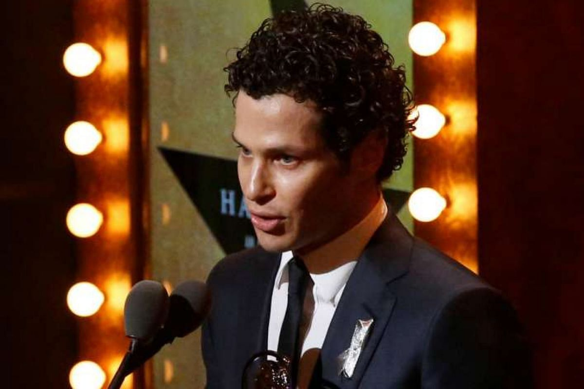 Thomas Kail accepts the award for Best Direction of a Musical for Hamilton.