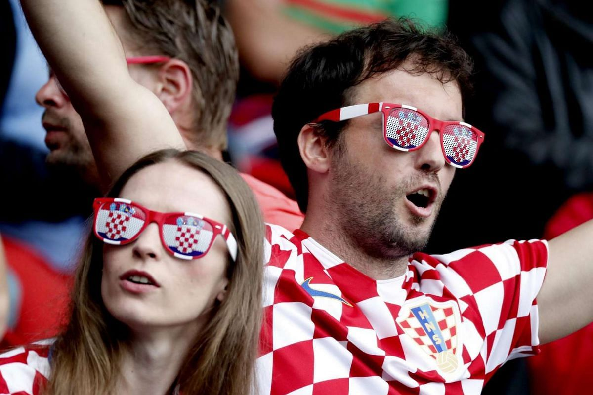 Croatian fans prior the UEFA Euro 2016 group D preliminary round match between Turkey and Croatia at Parc des Princes in Paris, France on June 12, 2016.