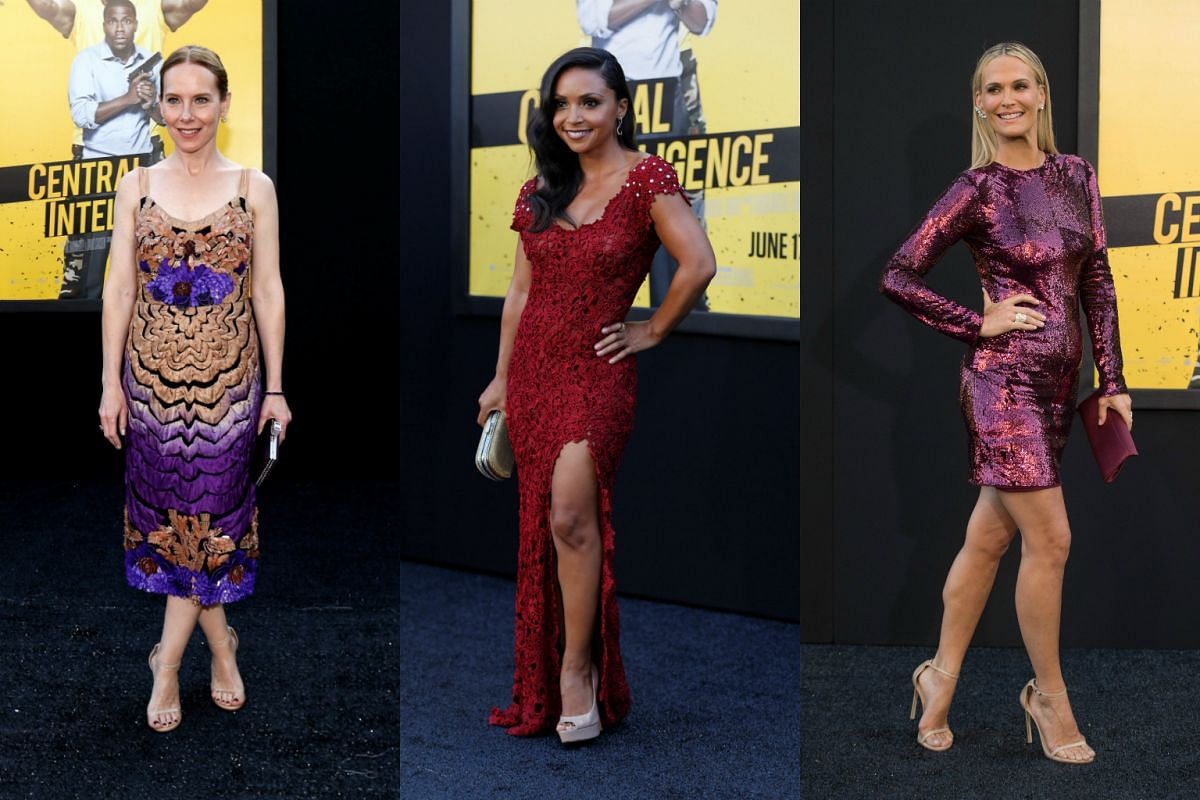 Cast members (from left) Amy Ryan and Danielle Nicolet, and model Molly Sims, arrive for the premiere of the movie.