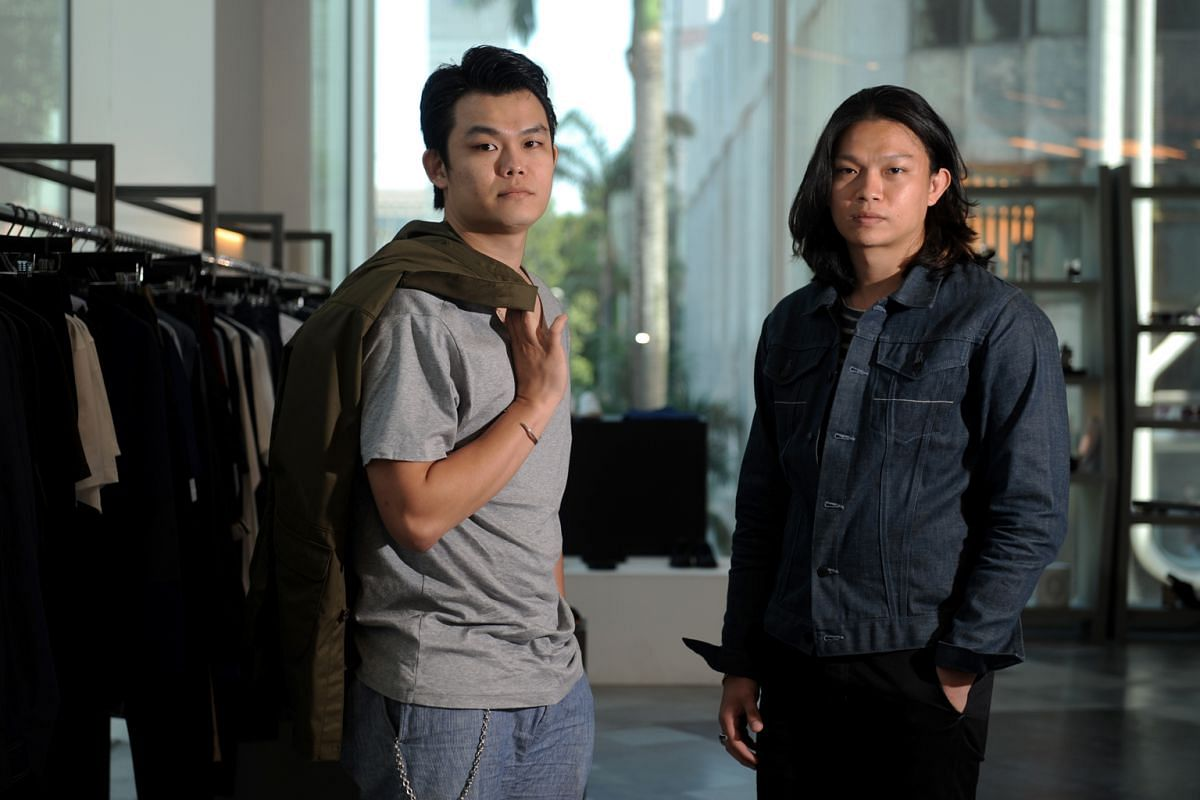 biro: Brothers Chong Keng How (left) and Kage Chong started the company in 2010 because they felt there was a lack of good-quality clothing in Singapore.
