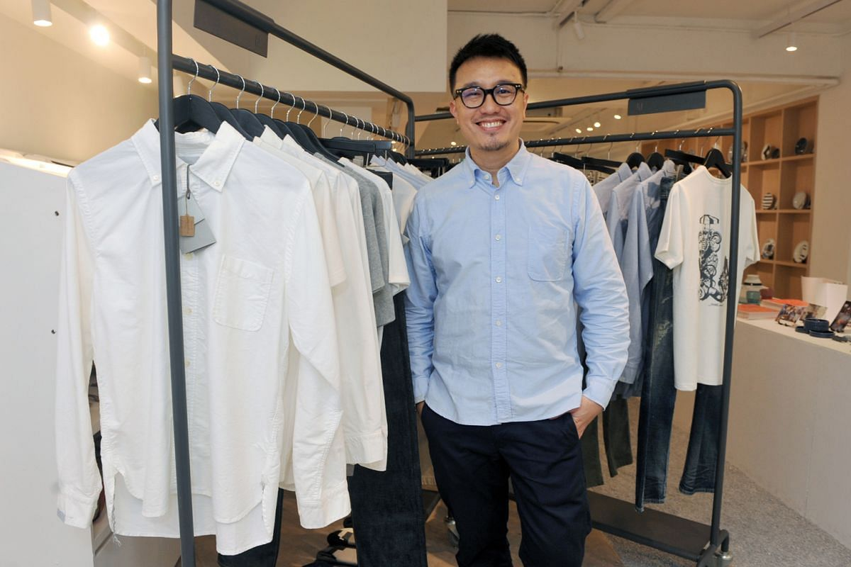 Faculty's creative director Larry Peh (above) says the brand's white shirts are inspired by former deputy prime minister S. Rajaratnam.