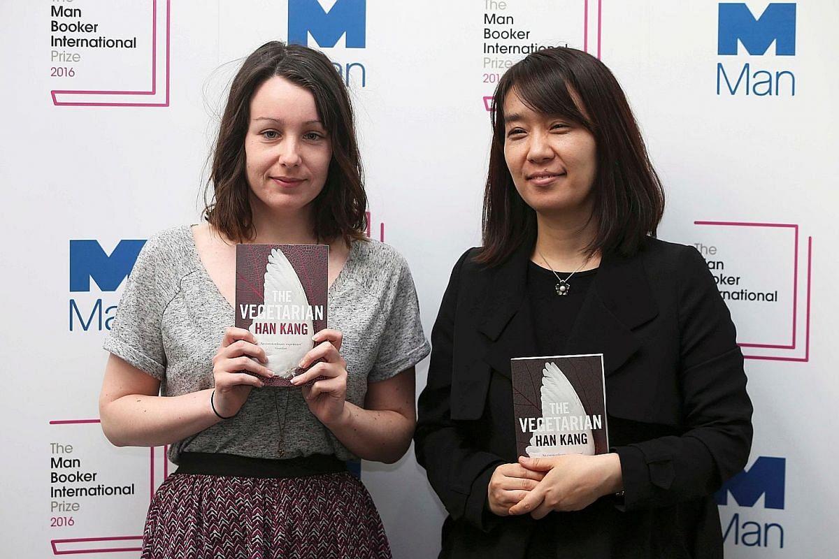 British translator Deborah Smith (above left, with South Korean writer Han Kang).
