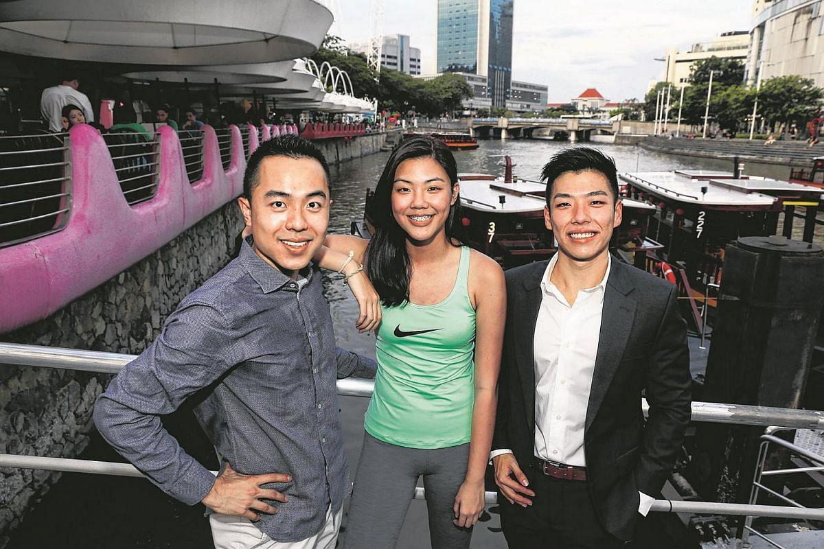 (From left): Mr Trevor Wong, Ms Kwong Mei Lin, and Mr Marc Lim.