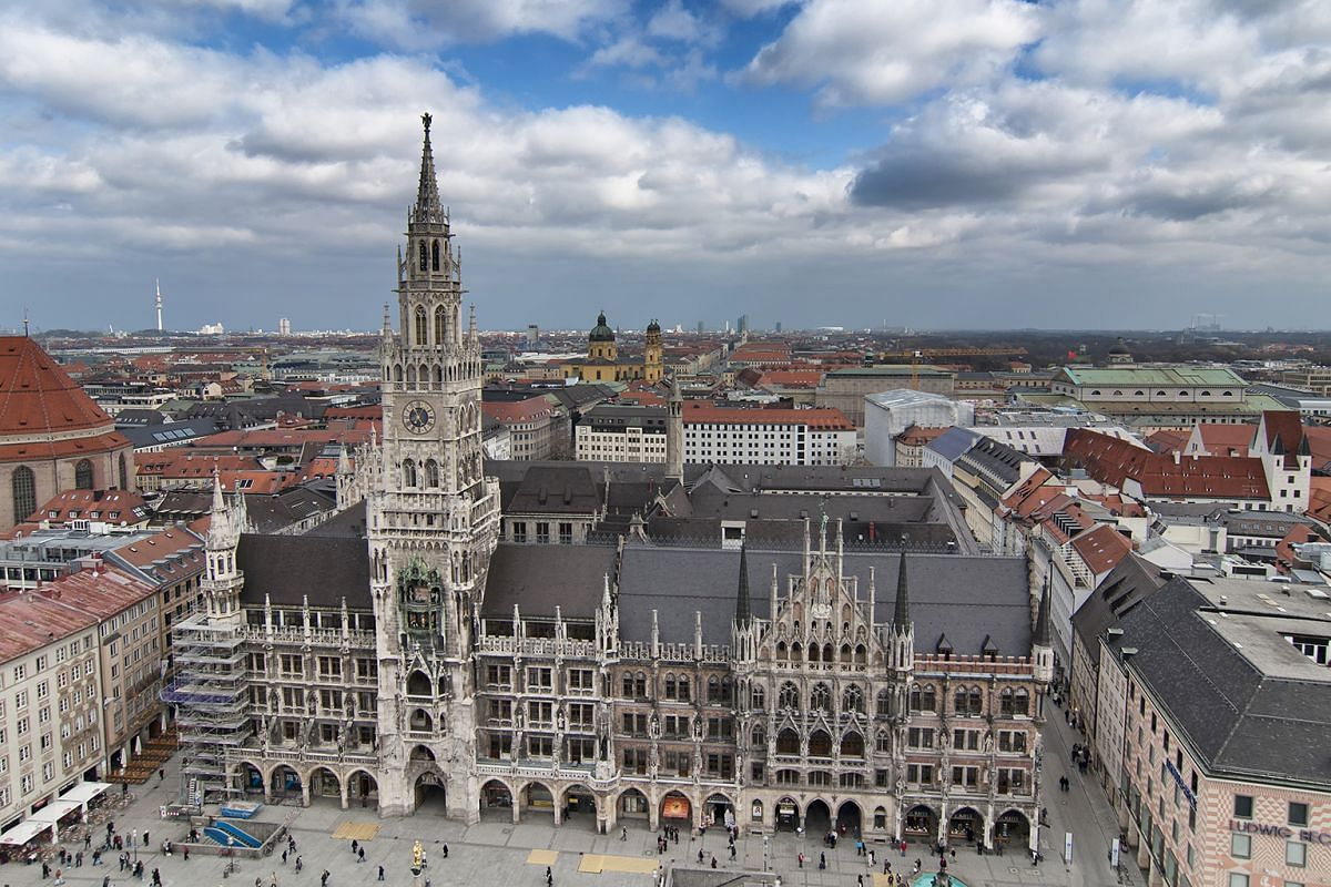 Marienplatz (above), or Mary's Square, is a central square in the city centre of Munich. The city is a favourite destination of Ms Julia Ohler.