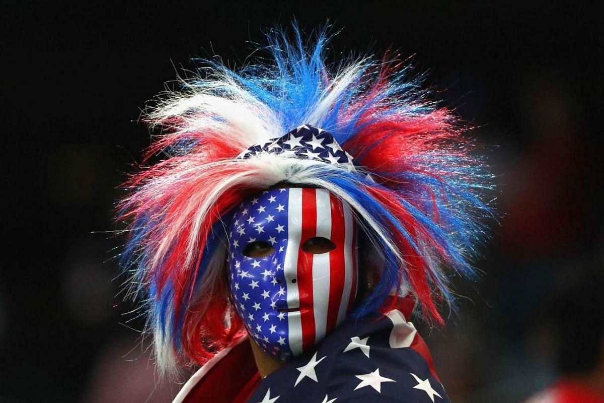 A United States fan looks on prior to a 2016 Copa America Centenario Semifinal match between Argentina and the United States at NRG Stadium on June 21, 2016 in Houston, Texas.