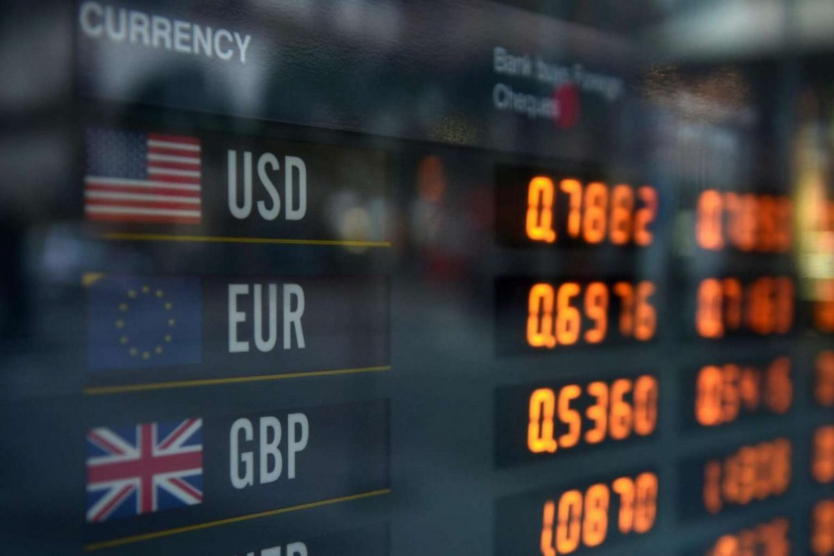 Foreign currency exchanges in Sydney, Australia, on June 23, 2016.