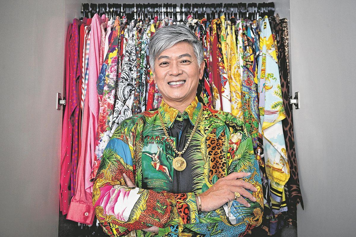 Dick Lee in a vintage 1990s Versace silk shirt.