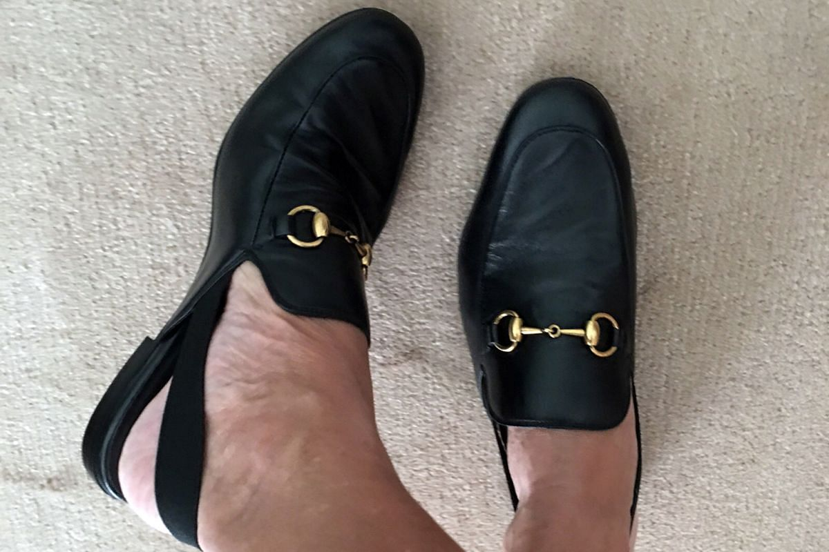His Gucci loafers (above) are his favourite footwear.