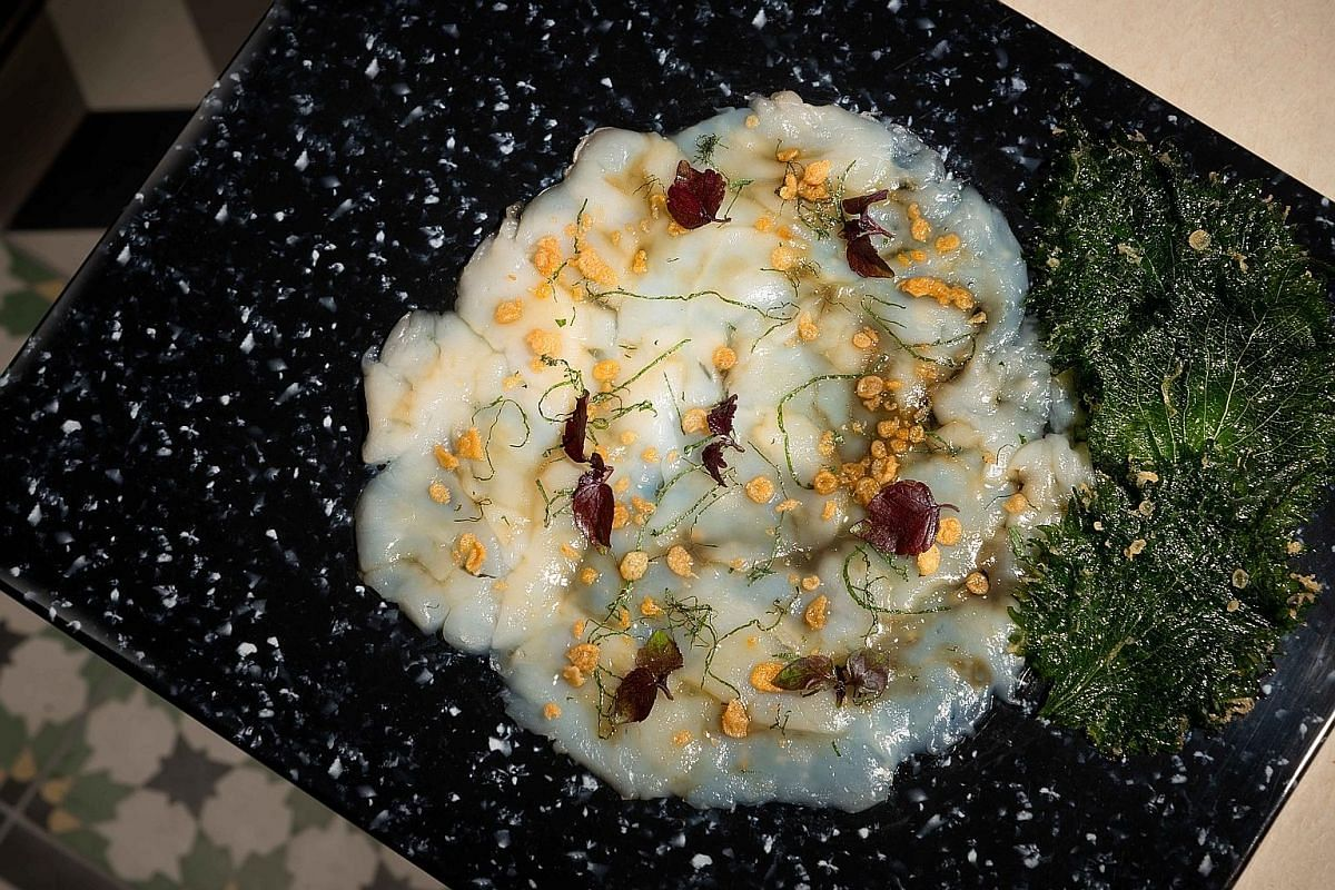 The Simply Scallop starter is Hokkaido scallop carpaccio with a yuzu and ginger marinade. The Lobster Porridge is good value with half a lobster, a few slices of abalone and shreds of dried scallop.