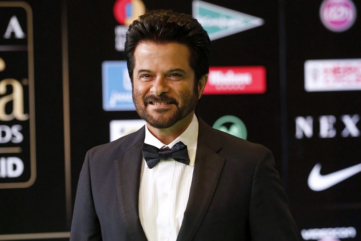 Indian actor and producer Anil Kapoor poses for photographers upon his arrival at the 17th International Indian Film Academy Awards (IIFA) ceremony.