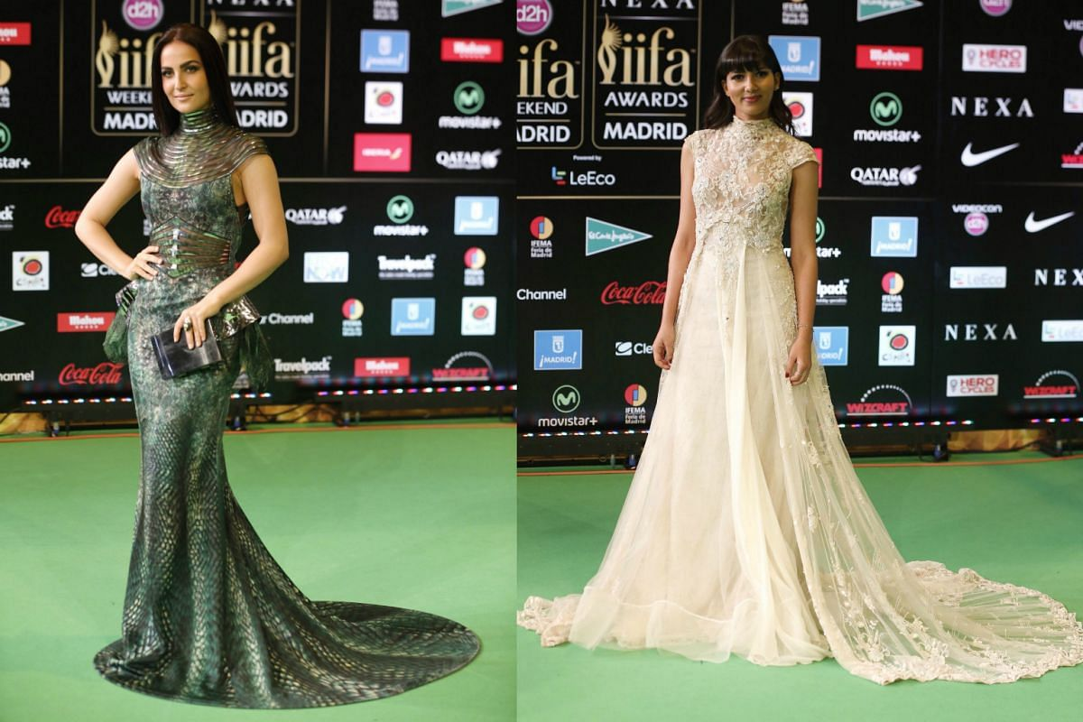 It is not just Bollywood actors who show up for IIFA. Swedish actress Elli Avram (left) and Saharan actress Mariam Bachir were also seen on the green carpet.