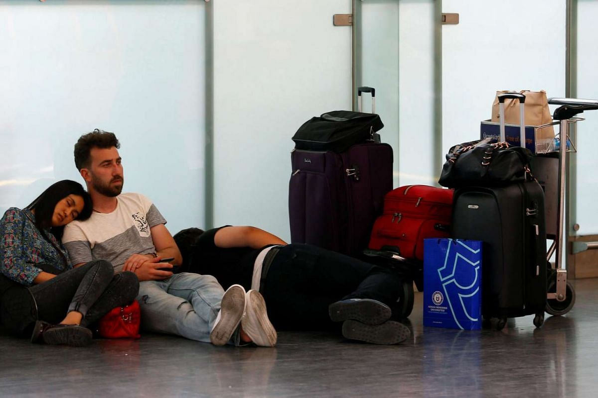 Passengers wait for their flights at Turkey's largest airport, Ataturk in Istanbul, on June 29, 2016. Air traffic resumed at the airport from 3am local time (8am Singapore time).