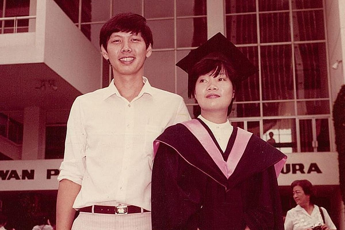 My Life So Far: Mr Wong at the graduation ceremony of his then-girlfriend, now-wife Thng Cheo Yan (both above) in the 1970s.