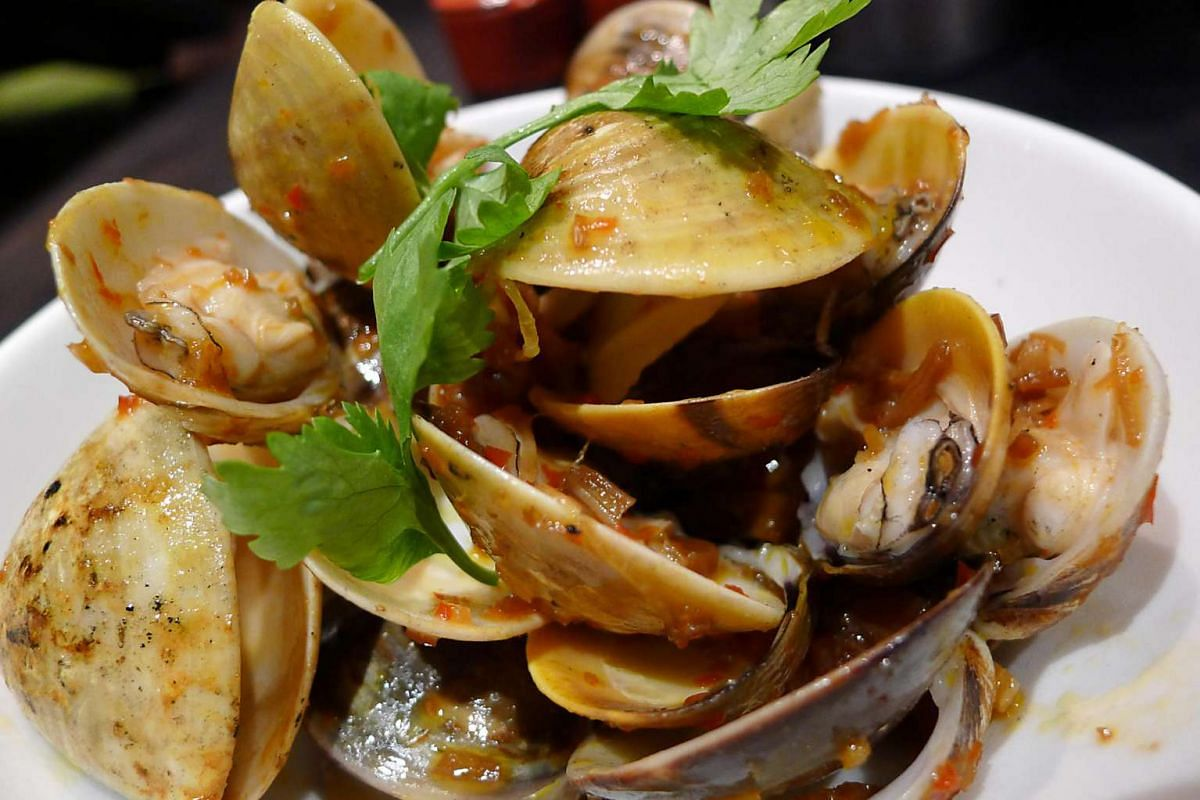 White clams and XO sauce.