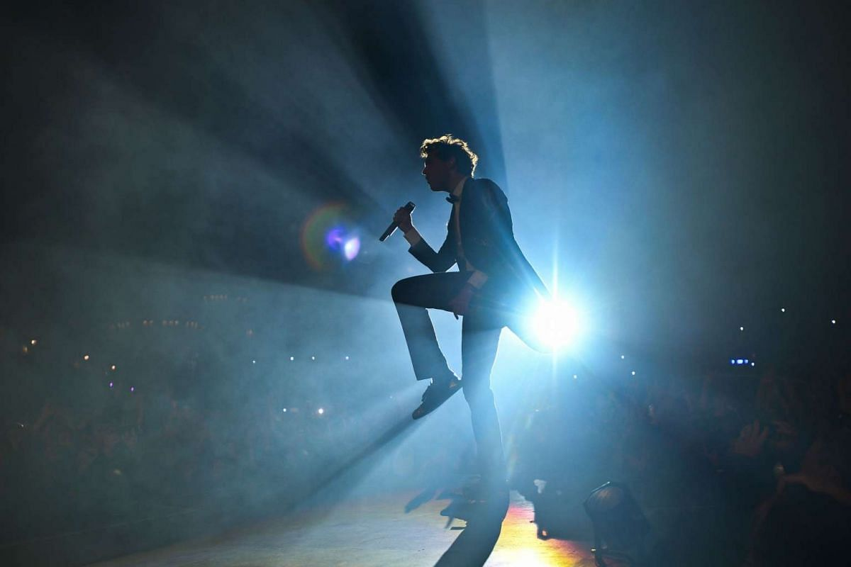 Mika performing live at the Francofolies Music Festival in La Rochelle, France, on July 13, 2016.