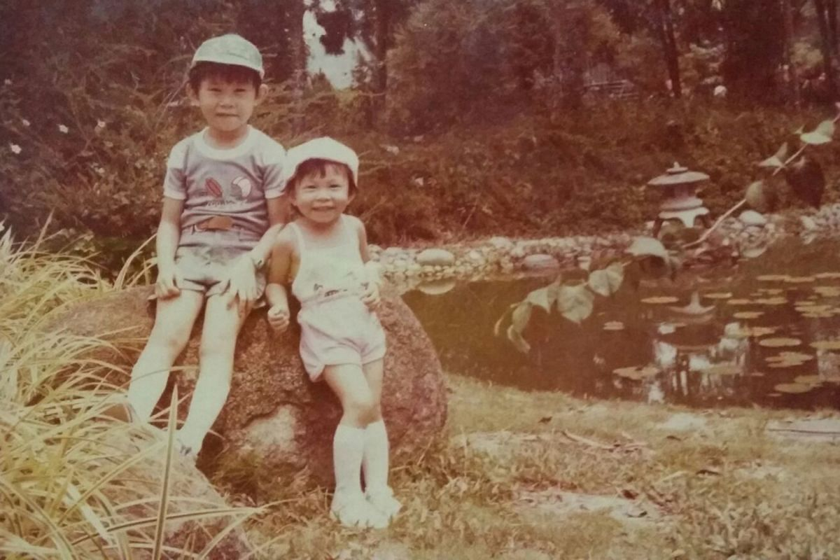 My life so far: A young Toh Tze Chin and his sister, Meixuan.