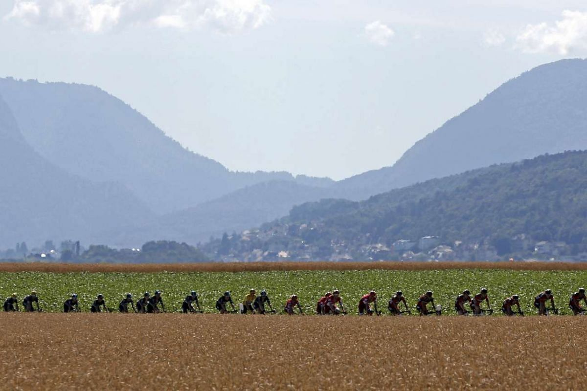 The 209km Stage 16 Tour de France cycling race from Moirans-en-Montagen, France to Berne, Switzerland, on July 18, 2016.