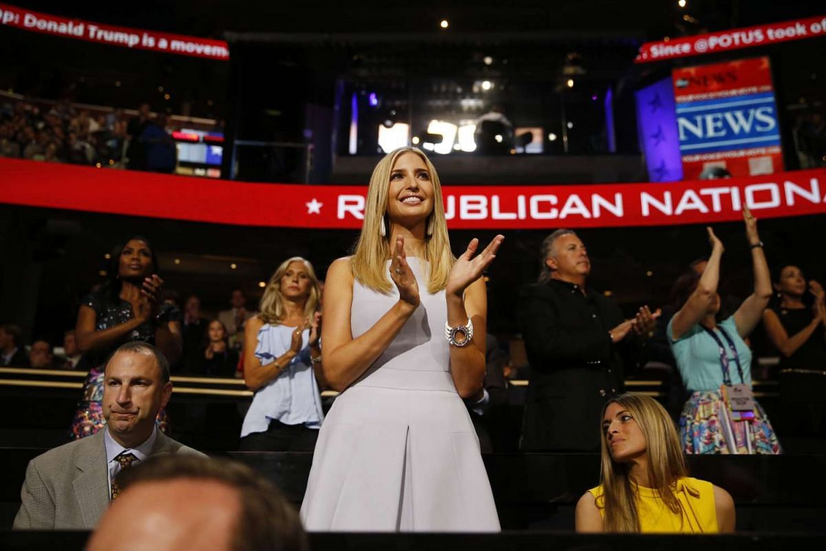 Ivanka Trump, daughter of Republican Presidential Nominee Donald Trump applauds during the Republican National Convention (RNC) in Cleveland, Ohio, on July 19.