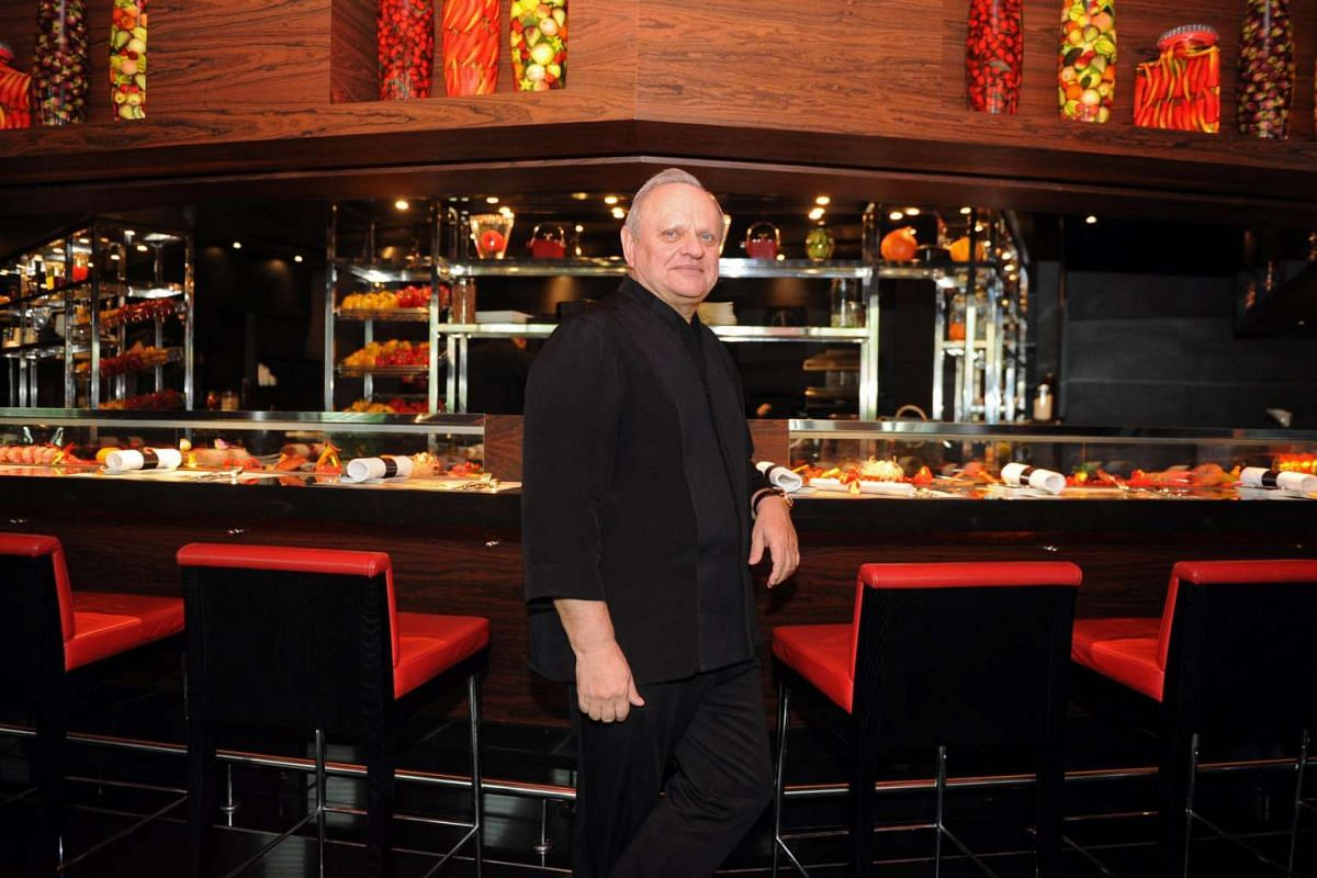French chef Joel Robuchon, who has more than 25 Michelin stars to his name and about 20 establishments around the globe.