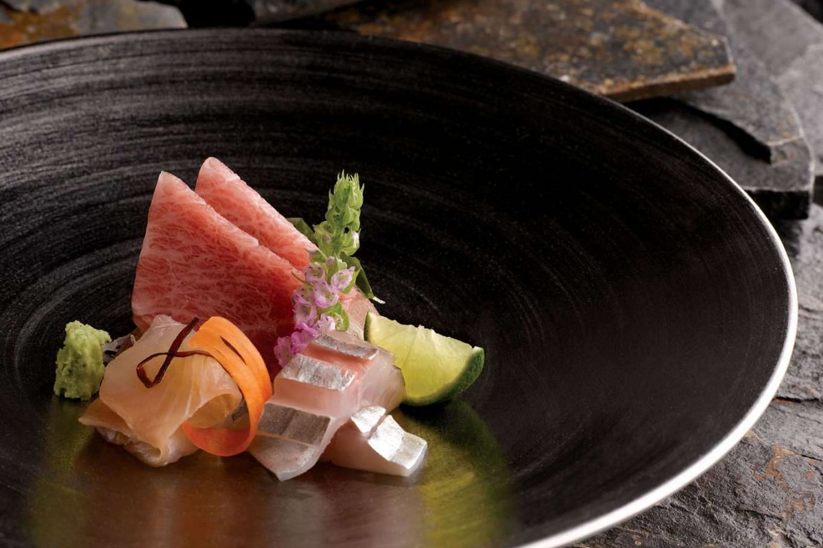 Sashimi from Shinji by Kanesaka at Raffles Hotel.
