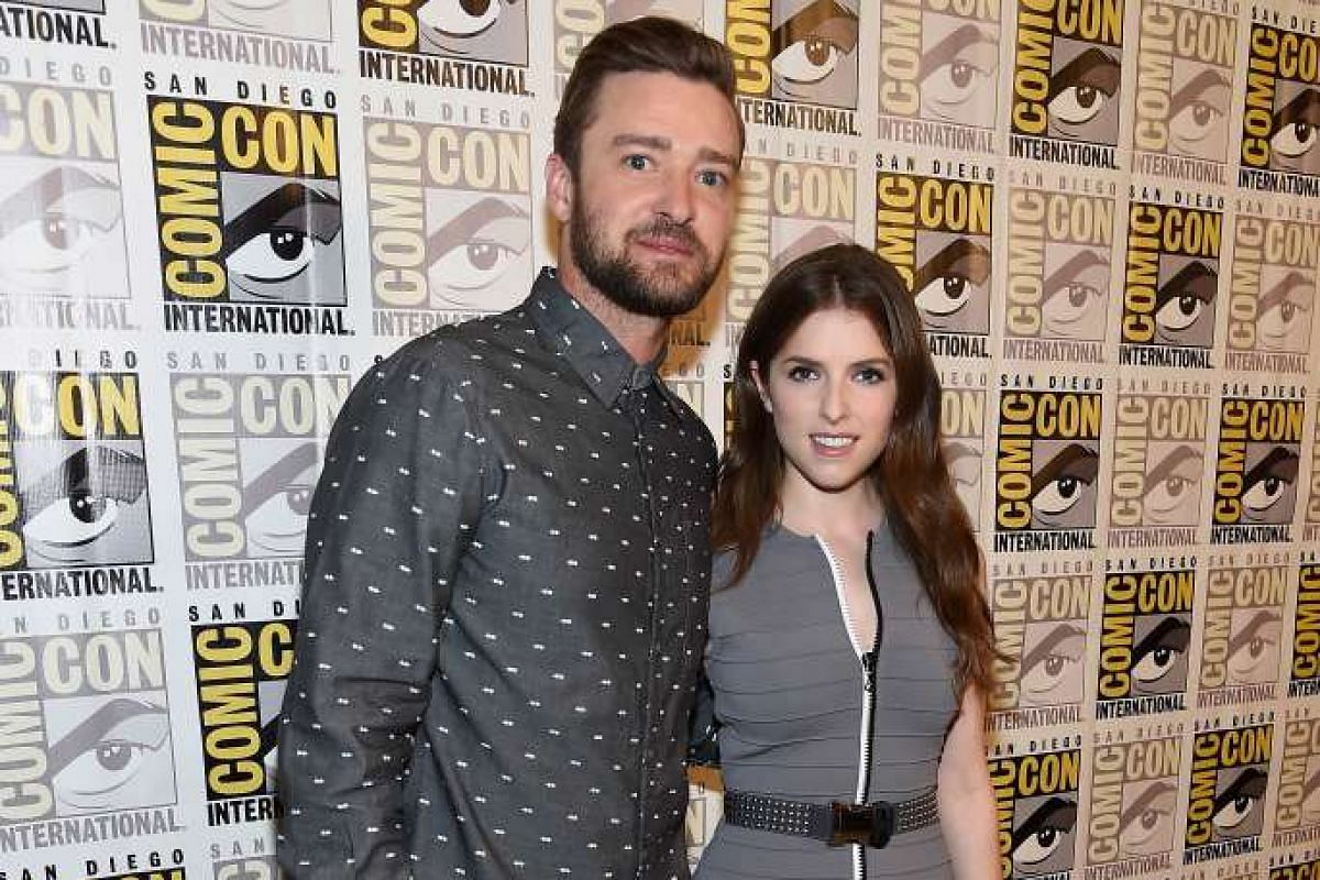 Singer/actor Justin Timberlake and actress Anna Kendrick attend the DreamWorks Animation press line during Comic-Con International 2016 at Hilton Bayfront on July 21 in San Diego, California.