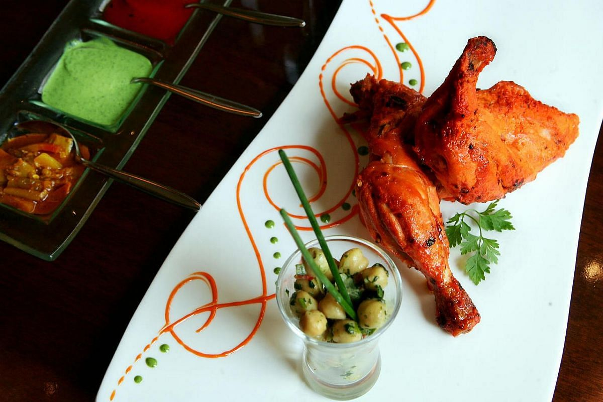 Tandoori chicken from Song of India.