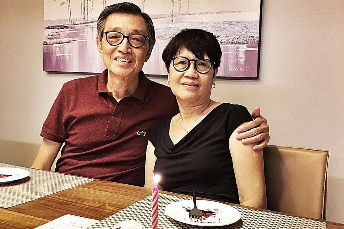 My life so far: Mr Wong with his wife, Madam Chee Moh Chin. They were classmates at Chung Cheng High School.