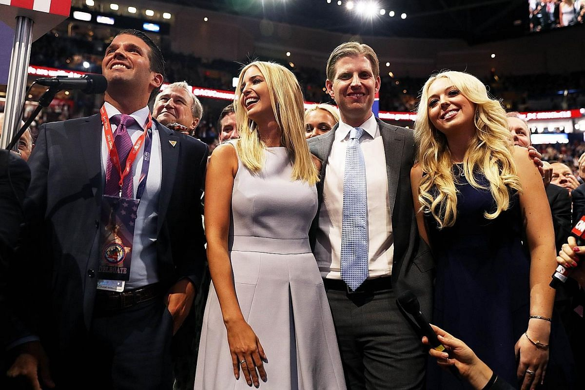 Mrs Melania Trump says she has nicknamed her son, Barron (above), Little Donald due to his personality. Speaking up for their father, Republican presidential nominee Donald Trump, at the Republican National Convention on July 19 were four of his five